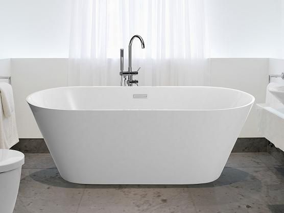 L univers salle de bain de beliani beliani blog fr for Baignoire ilot grande taille